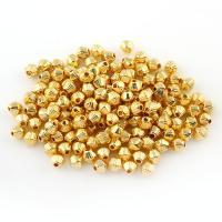 Zink Legierung Perlen Schmuck, Zinklegierung, Doppelkegel, goldfarben plattiert, frei von Blei & Kadmium, 4x4mm, Bohrung:ca. 0.5mm, 50G/Tasche, verkauft von Tasche