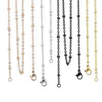 Titanstahl Halskette Gliederkette, plattiert, unisex & Oval-Kette, keine, 2.4mm, Länge:ca. 19 ZollInch, 20SträngeStrang/Menge, verkauft von Menge
