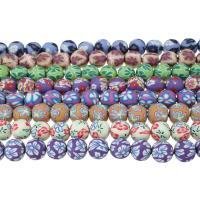Polymer Ton Perlen , rund, für Frau, keine, 11x12x12mm, Bohrung:ca. 2mm, Länge:ca. 14.5 ZollInch, 5SträngeStrang/Menge, ca. 32PCs/Strang, verkauft von Menge