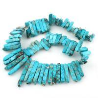 Impression Jaspis Perle, 6x17mm-7x51mm, Bohrung:ca. 1mm, verkauft per ca. 15.5 ZollInch Strang