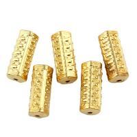 Zink Legierung Perlen Schmuck, Zinklegierung, goldfarben plattiert, frei von Blei & Kadmium, 21x9mm, Bohrung:ca. 1mm, 10PCs/Tasche, verkauft von Tasche