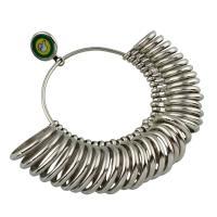 Ring-Sizer, Zinklegierung, Platinfarbe platiniert, frei von Blei & Kadmium, 103x99x28mm, verkauft von PC