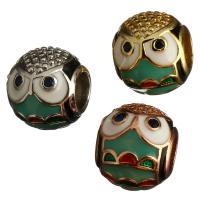 Messing European Perlen, Trommel, plattiert, ohne troll & Emaille, keine, 9x11x11mm, Bohrung:ca. 5mm, 10PCs/Menge, verkauft von Menge