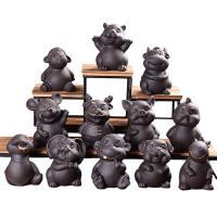 Tee Haustierdekoration, Lila Sand, Chinesische Sternzeichen, verschiedene Stile für Wahl, 80x80x105mm, verkauft von PC