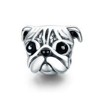Thailand European Perlen, Hund, ohne troll & Emaille, 10x13mm, verkauft von PC