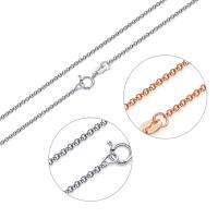 925 Sterling Silber Halskette Kette, 925er Sterling Silber, plattiert, unterschiedliche Länge der Wahl & Rolo Kette & für Frau, 1.5mm, verkauft von Strang