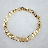 Messing-Armbänder, Messing, goldfarben plattiert, unisex, frei von Nickel, Blei & Kadmium, 21cm, verkauft per ca. 8 ZollInch Strang