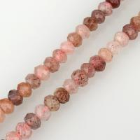 Strawberry Quartz Perle, Trommel, verschiedene Größen vorhanden & facettierte, Bohrung:ca. 1mm, verkauft per ca. 15.5 ZollInch Strang