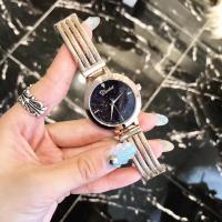 DIMINI® Uhrenkollektion, Edelstahl, mit Glas, flache Runde, plattiert, Sternendesign & für Frau & wasserdicht, keine, 34x10mm, Länge:ca. 8.6 ZollInch, verkauft von PC