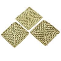 Rohrstock Kostüm Zubehör, Squaredelle, handgefertigt & gewebte Muster, 50x49x6mm-49x51x6mm, 50PCs/Tasche, verkauft von Tasche