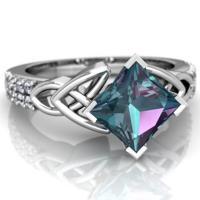 Messing Fingerring, mit Kristall, platiniert, verschiedene Größen vorhanden & für Frau & mit Strass, frei von Nickel, Blei & Kadmium, verkauft von PC