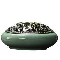 Porzellan Räuchergefäß, mit Zinklegierung, antike Bronzefarbe plattiert, keine, 140x70mm, verkauft von PC