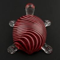 Lampwork Cabochon, Schildkröter, handgemacht, 55x63x28mm, verkauft von PC