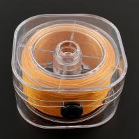Gewachste Hanfschnur Schnur, mit Kunststoff Kasten, gelb, 75x40mm, 1mm, verkauft von PC