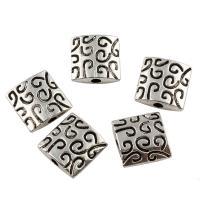 Zink Legierung Perlen Schmuck, Zinklegierung, Quadrat, antik silberfarben plattiert, frei von Blei & Kadmium, 9x2.5mm, Bohrung:ca. 1mm, 800PCs/Tasche, verkauft von Tasche