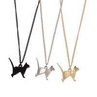 Zinklegierung Schmuck Halskette, mit Eisenkette, Tier, plattiert, unisex & Twist oval, keine, frei von Blei & Kadmium, verkauft per ca. 19.7 ZollInch Strang