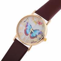 Damen Armbanduhr, PU Leder, mit Glas & Zinklegierung, goldfarben plattiert, einstellbar & für Frau, keine, 37x8mm, Länge:ca. 9.4 ZollInch, verkauft von PC