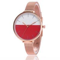 Damen Armbanduhr, Zinklegierung, mit Glas, Rósegold-Farbe plattiert, einstellbar & für Frau, keine, frei von Nickel, Blei & Kadmium, 38x8mm, Länge:ca. 9.4 ZollInch, verkauft von PC