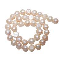 Lagerluft Süßwasser Perlen, Natürliche kultivierte Süßwasserperlen, Barock, natürlich, Rosa, 11-12mm, Bohrung:ca. 0.8mm, verkauft per ca. 15.5 ZollInch Strang