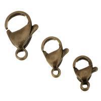 Edelstahl Verschluss, antike Bronzefarbe plattiert, verschiedene Größen vorhanden, 100PCs/Tasche, verkauft von Tasche