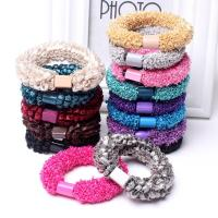 Haar Elastik, Stoff, Koreanischen Stil & für Frau, keine, 70mm, 10PCs/Tasche, verkauft von Tasche