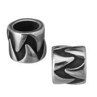 Edelstahl European Perlen, Rondell, ohne troll & Schwärzen, 7.50x7x7.50mm, Bohrung:ca. 5mm, 10PCs/Menge, verkauft von Menge