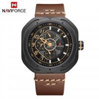 NAVIFORCE® Uhrenkollektion, Glas, mit PO Leder & Zinklegierung, plattiert, für den Menschen, keine, 45x12mm, Länge:ca. 9.8 ZollInch, verkauft von PC