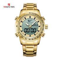 MIZUMS® Uhrenkollektion, Glas, mit Edelstahl & Zinklegierung, plattiert, für den Menschen, keine, 48x14mm, Länge:ca. 8.6 ZollInch, verkauft von PC