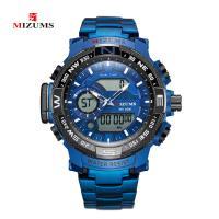 MIZUMS® Uhrenkollektion, Glas, mit Edelstahl & Zinklegierung, plattiert, für den Menschen & glänzend, keine, 53x14mm, Länge:ca. 8.6 ZollInch, verkauft von PC