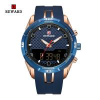 Reward® Uhrenkollektion, Glas, mit Silikon & Zinklegierung, plattiert, für den Menschen, keine, 46x13mm, Länge:ca. 9.4 ZollInch, verkauft von PC