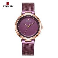 Reward® Uhrenkollektion, Glas, mit Edelstahl & Zinklegierung, plattiert, für Frau & mit Strass, keine, 34x8mm, Länge:ca. 8.2 ZollInch, verkauft von PC
