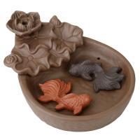 Porcelain Backflow Incense Burner, Lila Sand, 107x1500x65mm, verkauft von PC
