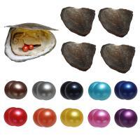 Süßwasser kultivierte Liebe wünschen Perlenaustern, Natürliche kultivierte Süßwasserperlen, Kartoffel, gemischte Farben, 7-8mm, 10PCs/Tasche, verkauft von Tasche