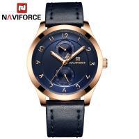 NAVIFORCE® Uhrenkollektion, Glas, mit PO Leder & Zinklegierung, plattiert, für den Menschen, keine, 43x10mm, Länge:ca. 10.2 ZollInch, verkauft von PC