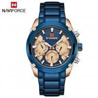NAVIFORCE® Uhrenkollektion, Glas, mit Edelstahl & Zinklegierung, plattiert, für den Menschen, keine, 45x13mm, Länge:ca. 9.6 ZollInch, verkauft von PC