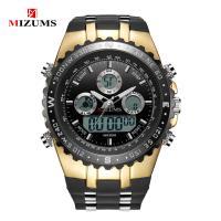MIZUMS® Uhrenkollektion, Glas, mit Kunststoff & Zinklegierung, plattiert, für den Menschen & glänzend, keine, 50x17mm, Länge:ca. 9 ZollInch, verkauft von PC