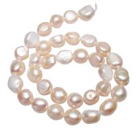 Barock kultivierten Süßwassersee Perlen, Natürliche kultivierte Süßwasserperlen, Klumpen, natürlich, Rosa, 10-11mm, verkauft per ca. 15.3 ZollInch Strang