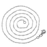 925 Sterling Silber Halskette Kette, 925er Sterling Silber, platiniert, verschiedene Größen vorhanden & Twist oval & für Frau, 3SträngeStrang/Menge, verkauft von Menge