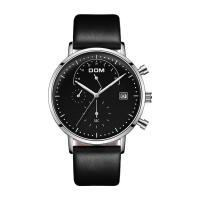DOM® Uhrenkollektion, Kuhhaut, mit Zinklegierung Zifferblatt & Glas & Edelstahl, plattiert, einstellbar & für den Menschen & wasserdicht, keine, 40x7mm, 20mm, Länge:ca. 7.6 ZollInch, verkauft von PC