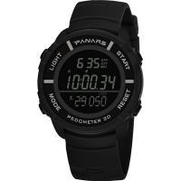 PANARS® Uhrenkollektion, Kunststoff, mit Edelstahl, plattiert, Multifunktions & einstellbar & LED & für den Menschen & wasserdicht & glänzend, keine, 48x14.5mm, 24mm, Länge:ca. 10.8 ZollInch, verkauft von PC