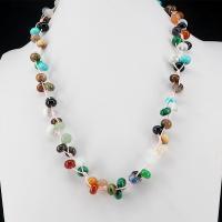 Edelstein Halskette, mit Nylonschnur, flache Runde, natürlich, für Frau, 5x8mm, verkauft per ca. 19.7 ZollInch Strang