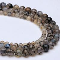 Natürliche Crackle Achat Perlen, Flachen Achat, verschiedene Größen vorhanden, verkauft per ca. 15 ZollInch Strang