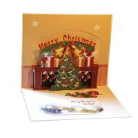 Papier 3D Grußkarte, Weihnachtsbaum, handgemacht, mit Umschlag & 3D-Effekt & hohl, 150x155mm, verkauft von PC