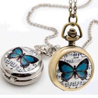 Mode Halskette Uhr, Zinklegierung, mit Glas, plattiert, für Frau, keine, 25mm, verkauft per ca. 31.5 ZollInch Strang