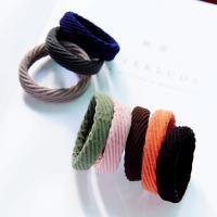 Elastisches Haarband, Gummiband, mit Stoff, für Frau, keine, 45mm, 10PCs/Menge, verkauft von Menge