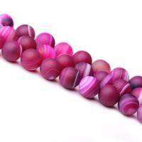 Achat Perlen, verschiedene Größen vorhanden & satiniert, verkauft per ca. 15 ZollInch Strang