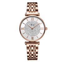 MEIBIN® Damen Schmuck Uhren, Zinklegierung, mit Glas, plattiert, für Frau & mit Strass, keine, 32x8mm, Länge:ca. 8.6 ZollInch, verkauft von PC