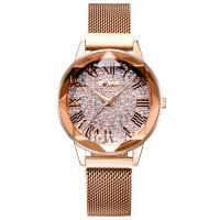 MEIBIN® Damen Schmuck Uhren, Zinklegierung, mit Glas, plattiert, für Frau & mit Strass, keine, 36x12mm, Länge:ca. 8.2 ZollInch, verkauft von PC