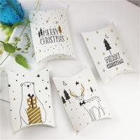 Papier Weihnachts-Geschenkbox, verschiedene Muster für Wahl, 100x110x28mm, 50PCs/Menge, verkauft von Menge