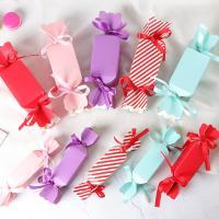 Papier Weihnachts-Geschenkbox, Bonbons, verschiedene Größen vorhanden, gemischte Farben, 50PCs/Menge, verkauft von Menge